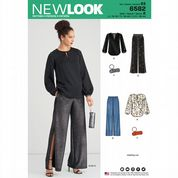 6582 New Look Pattern: Misses' Blouse, Trousers and Clutch Bag
